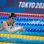 TOKYO, JAPAN - JULY 25  Yui Ohashi of Japan winning the gold medal in the 400m Individual Medley for Women during the Swimming Finals at the Tokyo Aquatic Centre at the Tokyo 2020 Summer Olympic Games on July 25, 2021 in Tokyo, Japan. (Photo by Tim Clayton/Corbis via Getty Images)