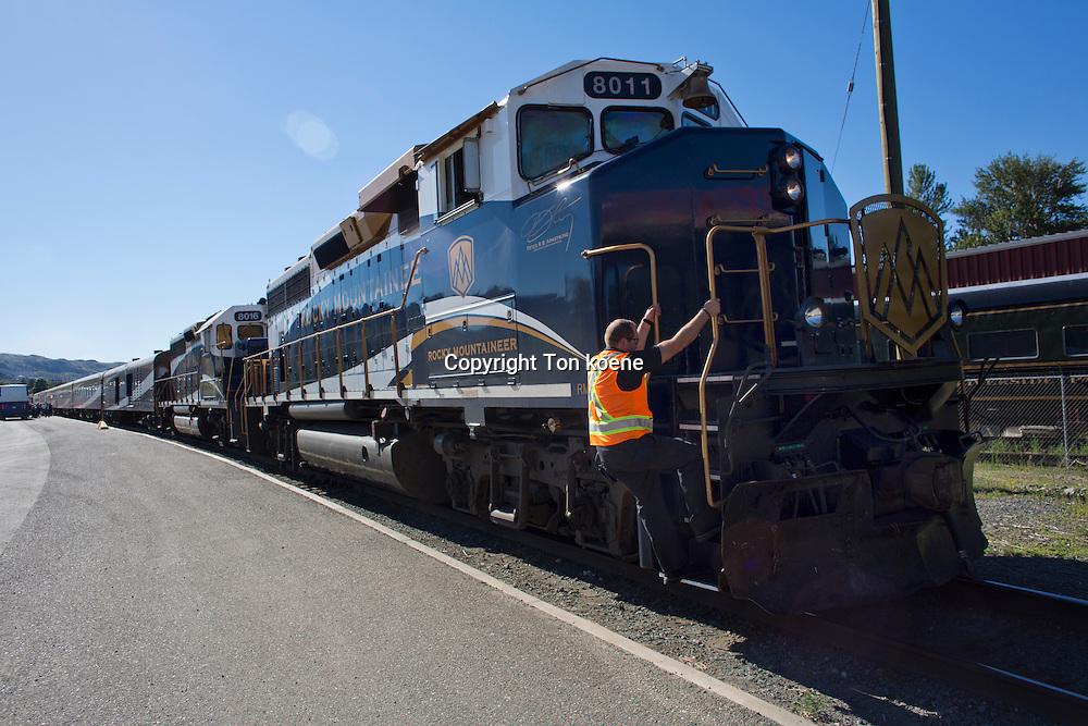 Rocky Mountaineer train, Canada