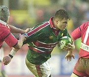 Leicester. ENGLAND. Welford Road. 14.12.2002. Pool Game in the<br /> European Heineken Cup Rugby <br /> Leicester Tigers vs Beziers<br /> Martin Corry   [Mandatory Credit:Peter SPURRIER/Intersport Images]