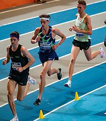 Job IJtsma, Mike Foppen, Tim Verbaandert in action on the 3000 meter during AA Drink Dutch Athletics Championship Indoor on 21 February 2021 in Apeldoorn.