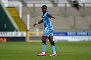 Udoka Godwin-Malife (22) of Forest Green Rovers during the Pre-Season Friendly match between Yeovil Town and Forest Green Rovers at Huish Park, Yeovil, England on 31 July 2021.