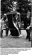 Nigella Lawson playing croquet at a Dangerous Sports Club Tea party.  Given at the Gloucestershire home of the Dutch Ambassador Robbert Fack. 22 August 1981. Film 8195f32<br />© Copyright Photograph by Dafydd Jones<br />66 Stockwell Park Rd. London SW9 0DA<br />Tel 0171 733 0108