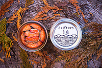 Canned, smoked wild salmon from Copper River by Drifters Fish, a  husband and wife team.