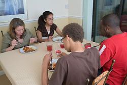 Family eating dinner,