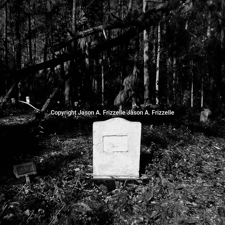 A gravestone is pictured at Maides Park in Wilmington, N.C. New Hanover County is the second smallest county in the state of North Carolina and has more than 100 abandoned gravesites.