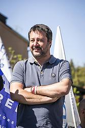 Italy, Milan - April 28, 2019.Paderno Dugnano.Matteo Salvini, leader of Lega Nord party and Minister of Internal Affairs during an electoral meeting of Northern League (Lega Nord) party (Credit Image: © De Grandis/Fotogramma/Ropi via ZUMA Press)