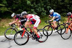 Ziga Jerman (SLO) of Rog - Ljubljana, Jon Bozic (SLO) of KK Adria Mobil, Primoz Obal (SLO) of Slovenija National Team during Stage 1 of 24th Tour of Slovenia 2017 / Tour de Slovenie from Koper to Kocevje (159,4 km) cycling race on June 15, 2017 in Slovenia. Photo by Vid Ponikvar / Sportida