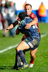 during the second half of the match - Photo mandatory by-line: Rogan Thomson/JMP - Tel: Mobile: 07966 386802 21/10/2012 - SPORT - RUGBY - Cardiff Arms Park - Cardiff. Cardiff Blues v Toulon (RC Toulonnais) - Heineken Cup Round 2