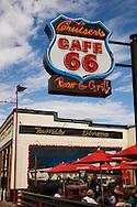Route 66, Cruisers, Cafe, neon, outdoor, family, dining, Williams, Arizona, AZ