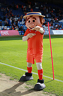 Luton Town mascot Harry the Hatter during the EFL Sky Bet League 1 match between Luton Town and Bristol Rovers at Kenilworth Road, Luton, England on 15 September 2018.