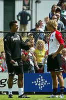 Fotball<br /> Nederland 2004/05<br /> Trening Feyenoord<br /> Rotterdam<br /> 5. juli 2004<br /> Foto: Digitalsport<br /> NORWAY ONLY<br /> Ruud Gullit og Glenn Loovens