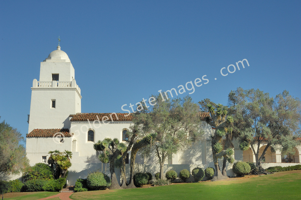 Located in Presido Park above Old Town San Diego. <br /> <br /> Constructed in 1929 this mission style building houses a museum which commemorates the site where Father Junipero Serra established the first mission in California.