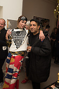 VALERIA NAPOLEONE; OSMAN YOUSEFZADA Valeria and Gregorio Napoleone and Joe Scotland host a dinner at therir home in Kensington  in celebration of Sol  Calero's commission at Studio Voltaire.  London. 13 October 2015