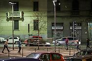 Milano, piazza Durante angolo Leoncavallo: Daily life