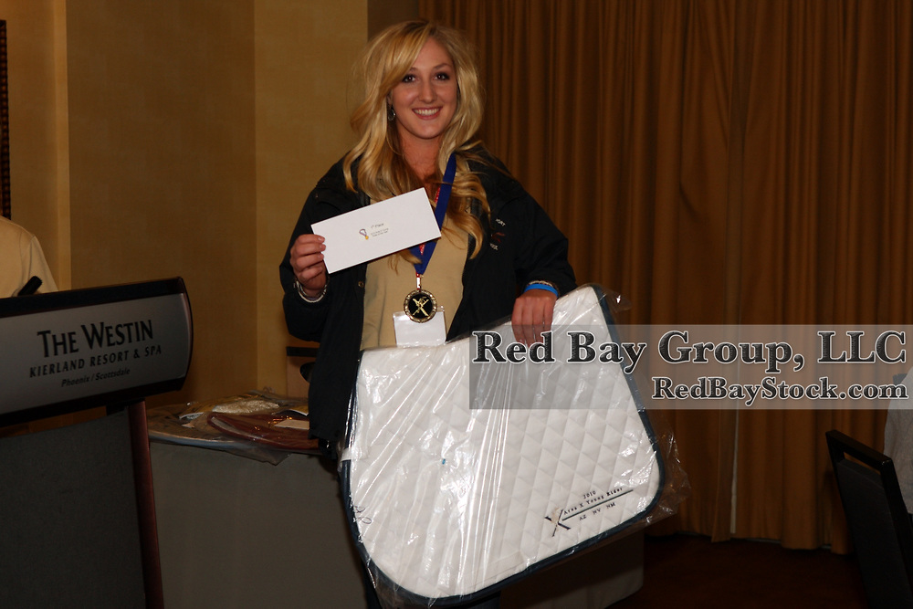 Taylor Lindsten at the USEA Area X Awards in Scottsdale, Arizona.