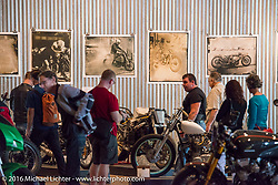 Handprinted Tintypes by Paul D'Orleans and Susan McLaughlin at the Handbuilt Motorcycle Show. Austin, TX, USA. April 10, 2016.  Photography ©2016 Michael Lichter.