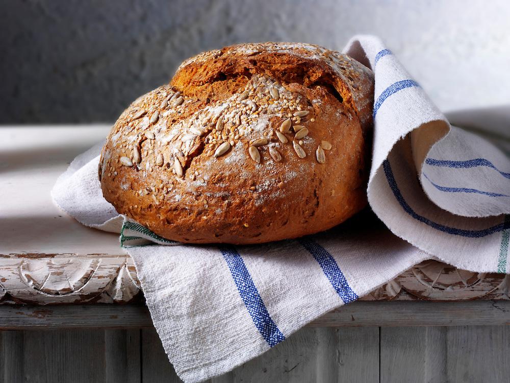 Artisan organic wholemeal  bread loaf