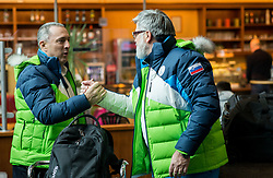 Damijan Lazar and Roman Jakic prior to the departure of Slovenian Paralympic team for Pyeongchang 2018 Winter Paralympics, on March 3, 2018 in Letalisce Jozeta Pucnika, Brnik, Slovenia. Photo by Vid Ponikvar / Sportida