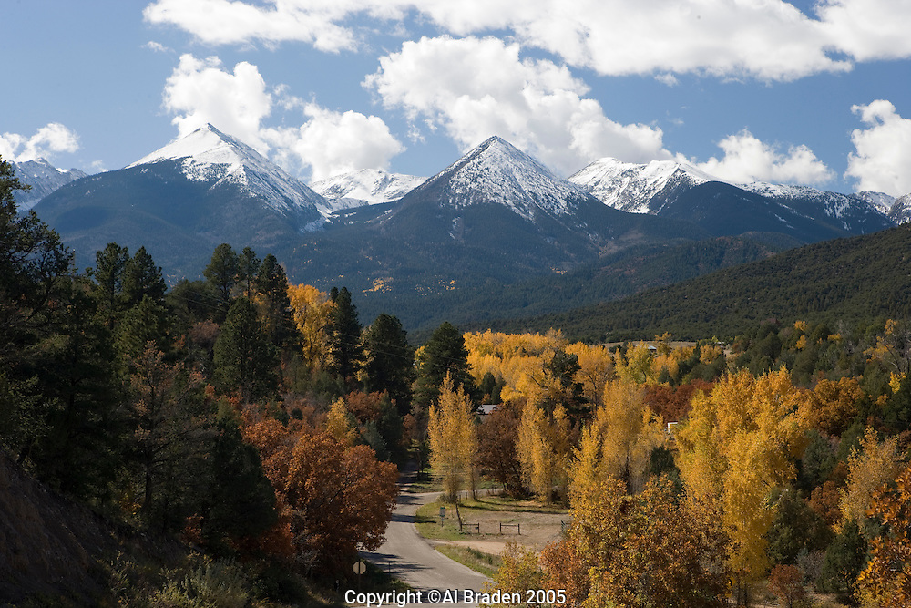 Colorado mountain peaks near Howard, Colorado