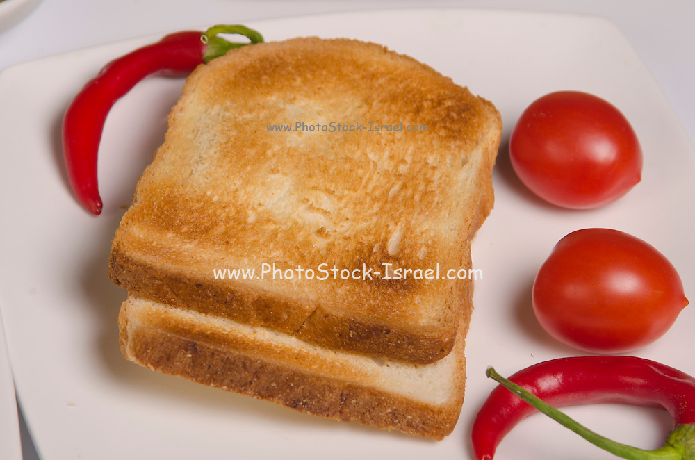 two slices of toast for breakfast