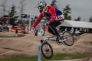 #593 (CAMPO Alfredo) ECU at the 2014 UCI BMX Supercross World Cup in Santiago Del Estero, Argentina.