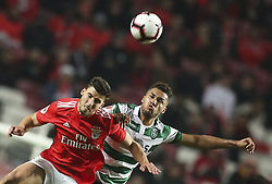 February 7, 2019 - Na - Lisbon, 06/02/2019 - SL Benfica received this evening the Sporting CP in the Stadium of Light, in game the account for the first leg of the Portuguese Cup 2018/19 semi final. Ruben Dias and Phellype  (Credit Image: © Atlantico Press via ZUMA Wire)