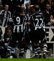 Photo: Jed Wee/Sportsbeat Images.<br /> Newcastle United v Tottenham Hotspur. The FA Barclays Premiership. 22/10/2007.<br /> <br /> Newcastle celebrate with goalscorer Abdoulaye Faye.