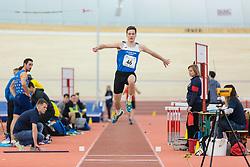 Šuligoj Tine competes during day 2 of Slovenian Athletics Indoor Championships 2020, on February 23, 2020 in Novo mesto, Slovenia. Photo by Peter Kastelic / Sportida