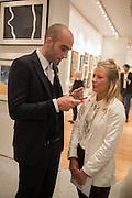 DAVINA HARBORD; DRUMMOND MONEY-COUTTS, 20/21 British Art Fair. Celebrating its 25 Anniversary. The Royal College of Art . Kensington Gore. London. 12 September 2012.