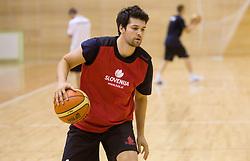 Saso Ozbolt during practice session of Slovenian National Basketball team during training camp for Eurobasket Lithuania 2011, on July 12, 2011, in Arena Vitranc, Kranjska Gora, Slovenia. (Photo by Vid Ponikvar / Sportida)