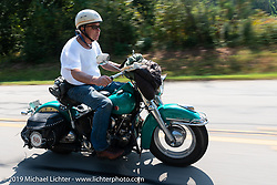 Bob Gamache of Lakeville, MA riding his 1948 Harley-Davidson FL Panhead in theCross Country Chase motorcycle endurance run from Sault Sainte Marie, MI to Key West, FL. (for vintage bikes from 1930-1948). Stage-6 from Chattanooga, TN to Macon, GA USA covered 258 miles. Wednesday, September 11, 2019. Photography ©2019 Michael Lichter.