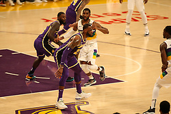 February 27, 2019 - Los Angeles, CA, U.S. - LOS ANGELES, CA - FEBRUARY 27: Los Angeles Lakers Forward LeBron James (23) playing defense during the first half of the New Orleans Pelicans versus Los Angeles Lakers game on February 27, 2019, at Staples Center in Los Angeles, CA. (Photo by Icon Sportswire) (Credit Image: © Icon Sportswire/Icon SMI via ZUMA Press)