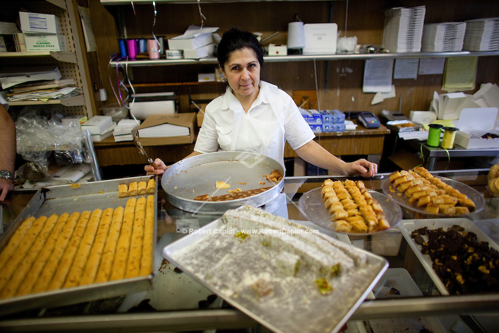 Josiane Mansoura of Mansoura's in Brooklyn, NY on Tuesday, Sept. 22, 2009. ..Robert Caplin For The Wall Street Journal