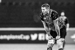 Ospreys' Bradley Davies<br /> <br /> Photographer Craig Thomas/Replay Images<br /> <br /> EPCR Champions Cup Round 4 - Ospreys v Northampton Saints - Sunday 17th December 2017 - Parc y Scarlets - Llanelli<br /> <br /> World Copyright © 2017 Replay Images. All rights reserved. info@replayimages.co.uk - www.replayimages.co.uk
