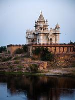 JODHPUR, INDIA - CIRCA NOVEMBER 2016:  Jaswant Thada Memorial in Jodhpur