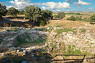 Excavations of Troy . Troy archaeological site, A UNESCO World Heritage Site, Turkey