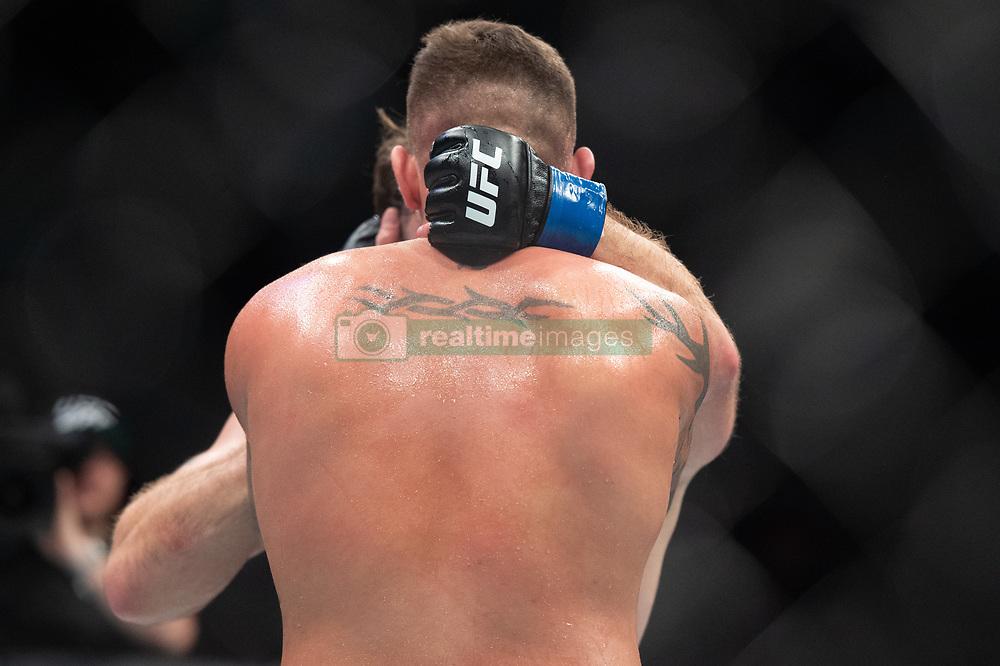 March 16, 2019 - London, United Kingdom - Jack Marshman beats John Phillips by split decision during UFC Fight Night 147 at the London O2 Arena, Greenwich on Saturday 16th March 2019. (Credit Image: © Mi News/NurPhoto via ZUMA Press)