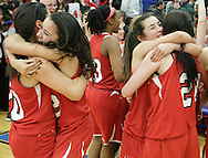 Tuxedo players celebrate their victory over Chester in the Section 9 Class C girls' basketball championship game at SUNY New Paltz on Friday, March 1, 2013.