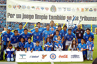Mexico DF. 20 de October of 2007. Azul Stadium. Cruz Azul vs Jaguares on date 13 of the  aperture tournament of the Mexican Football.<br /> The Azul Team.<br /> <br /> ©PikoPress