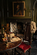 Dennis Severs House on Folgate Street on the 19th September 2019 in London in the United Kingdom. Dennis Severs House is a still-life atmospheric home, created by the previous owner Dennis Severs. The interior is based on a historical imagination of what life would have been like for a family of Huguenot silk weavers in East London.