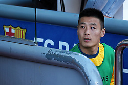 March 30, 2019 - Barcelona, Catalonia, Spain - Wu Lei during the match between FC Barcelona and RCD Espanyol, corresponding to the week 29 of the Liga Santander, played at the Camp Nou Stadium, on 30th March 2019, in Barcelona, Spain. (Credit Image: © Joan Valls/NurPhoto via ZUMA Press)