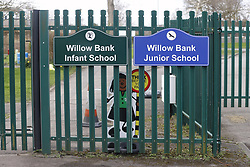 © Licensed to London News Pictures. 01/03/2020. Reading, UK. Willow Bank Infant and Junior Schools in Berkshire remain closed after a teacher was diagnosed with the Coronavirus. New cases are being reported daily in the UK. Photo credit: Peter Macdiarmid/LNP