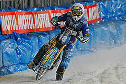 13.03.2016, Assen, BEL, FIM Eisspeedway Gladiators, Assen, im Bild Luca Bauer (GER) // during the Astana Expo FIM Ice Speedway Gladiators World Championship in Assen, Belgium on 2016/03/13. EXPA Pictures © 2016, PhotoCredit: EXPA/ Eibner-Pressefoto/ Stiefel<br /> <br /> *****ATTENTION - OUT of GER*****