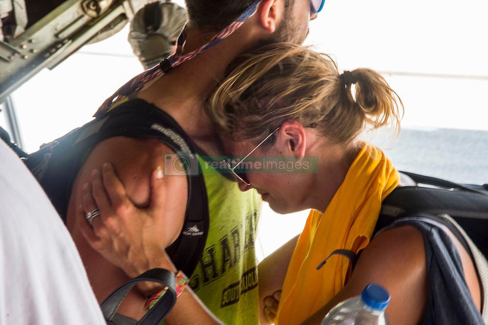 Sep 10, 2017 - St. Maarten, St. Maarten - Evacuees from St. Maarten board a HC-130 headed to San Juan, Puerto Rico. (Credit Image: © Sgt. Erin Mills/U.S. Air Force via ZUMA Wire)