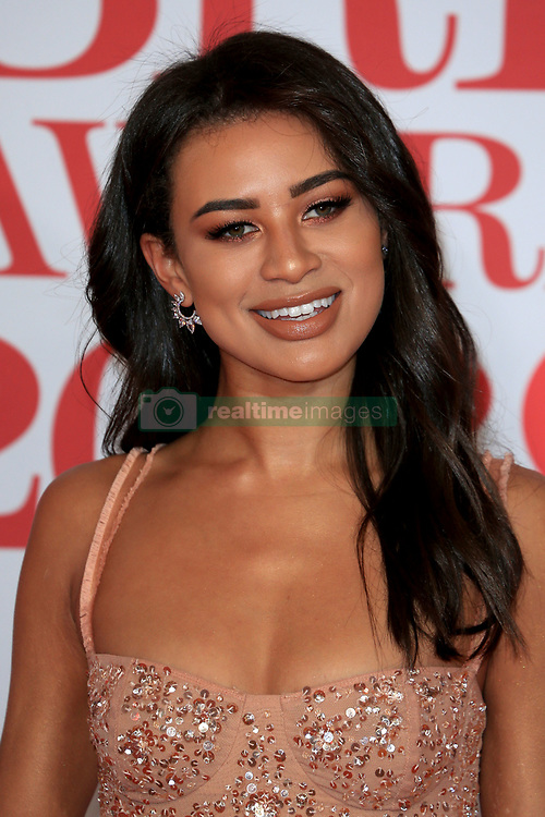 attends the Brit Awards at the O2 Arena in London, UK. 21 Feb 2018 Pictured: Montana Brown. Photo credit: MEGA TheMegaAgency.com +1 888 505 6342