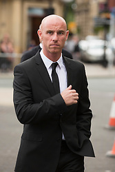 © Licensed to London News Pictures. 27/08/2015. Bury, UK.  Picture shows Nicky Butt. The funeral of Neville Neville father of footballers Gary & Phil Neville & England net ball coach Tracey has taken place today at Bury Parish church. Neville died in Australia after being taken ill on a visit to support his daughter  Tracey.  Photo credit: Andrew McCaren/LNP