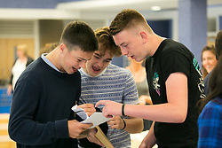 © Licensed to London News Pictures. 20/08/2015. Solihull, West Midlands, UK. GCSE results day at Solihull School. Boys opening their results envelopes. Photo credit : Dave Warren/LNP