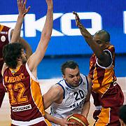 Anadolu Efes's Dusko Savanovic (C) during their Turkish Basketball League match Anadolu Efes between Galatasaray at Abdi Ipekci Arena in Istanbul, Turkey, Wednesday, January 04, 2012. Photo by TURKPIX