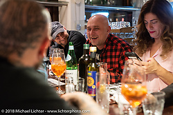 An evening at Culinarius Restaurant with friends during the Intermot International Motorcycle Fair. Cologne, Germany. Saturday October 6, 2018. Photography ©2018 Michael Lichter.