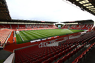 a General view inside the Britannia stadium. Barclays Premier League match, Stoke city v West Bromwich Albion at the Britannia stadium in Stoke on Trent, Staffs on Saturday 29th August 2015.<br /> pic by Chris Stading, Andrew Orchard sports photography.
